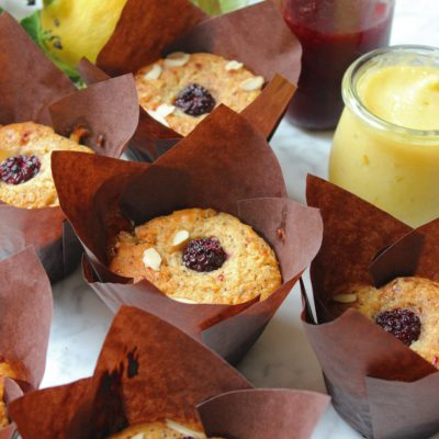 Lemon Poppyseed Berry Muffins