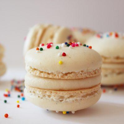Birthday Macarons and a Birthday Cake!