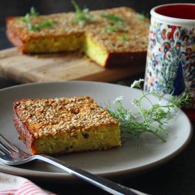 Savory Bottle Gourd Rice-Lentil Cake(Handvo)
