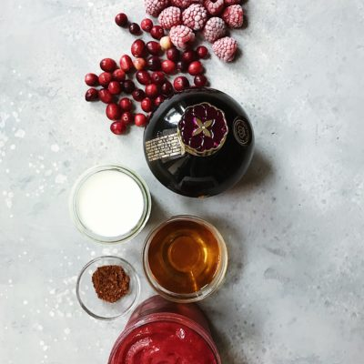 Cranberry-Raspberry Boozy Milkshake and a WOLF GOURMET Giveaway!