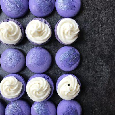 Lavender Macarons with Elderflower Liqueur Buttercream