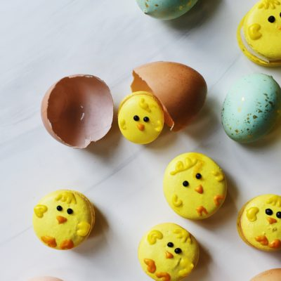 Easter Chick Macarons
