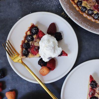 Berry Halvah Tart