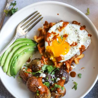 Huevos Rancheros Buttermilk Corn Waffles