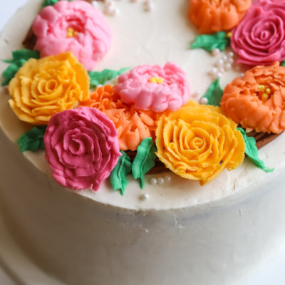 Spring Wreath Cake and 3 year Blogiversary!