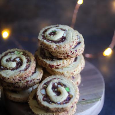Khajur Kopra Roll Pinwheel Cookies(Date Nut Pinwheel Cookies)