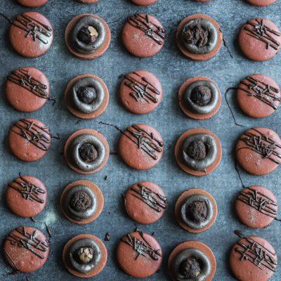Chocolate Brownie Macarons