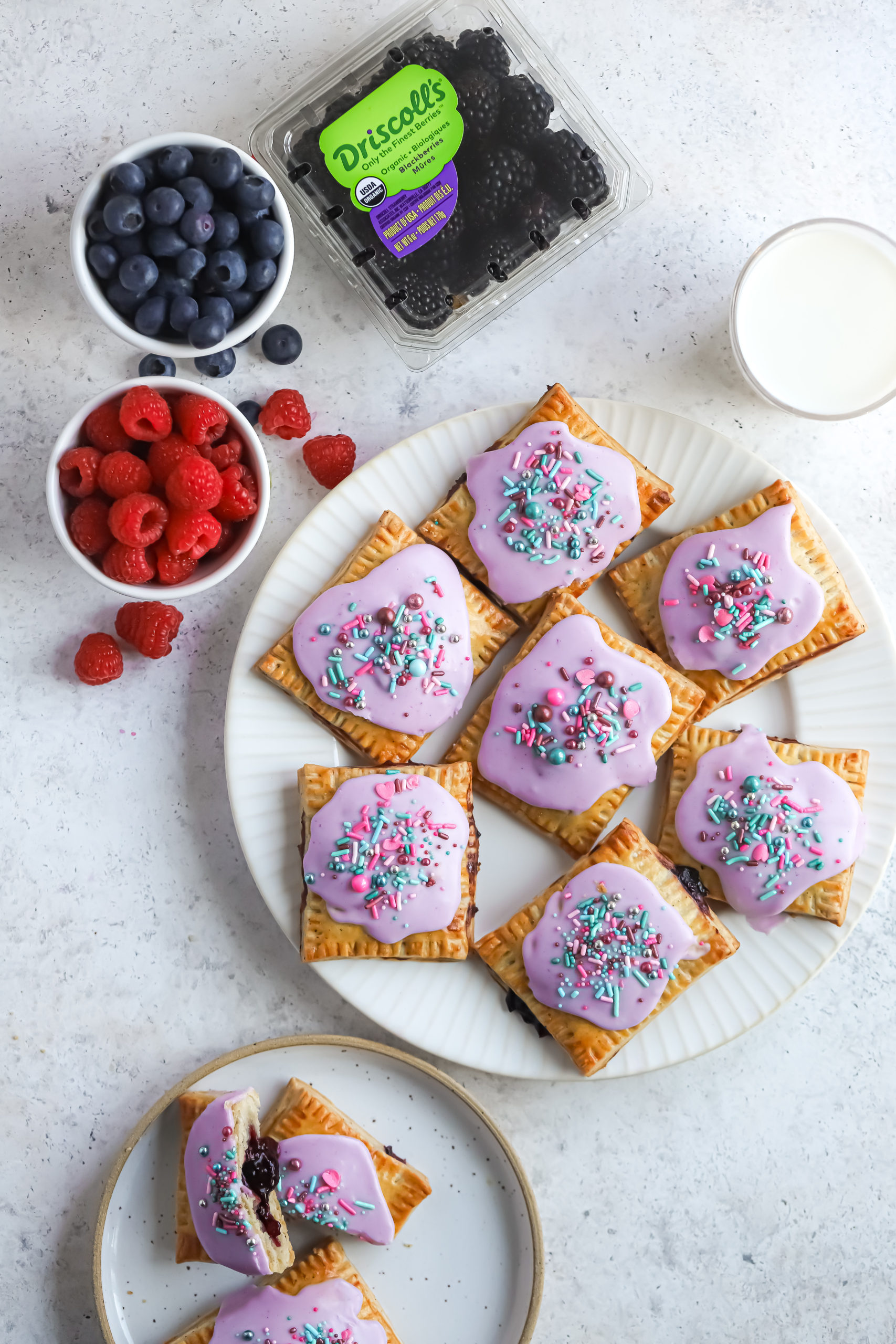Mixed Berry Breakfast Pastries Flatlay scaled
