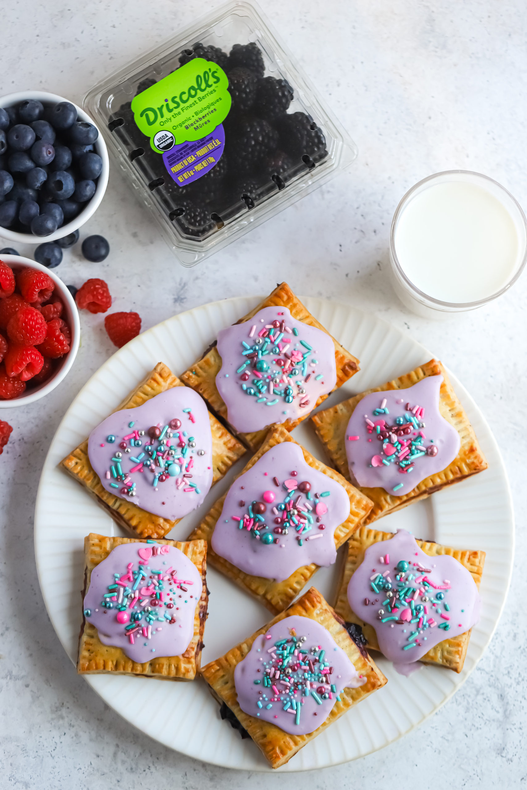 Mixed Berry Breakfast Pastries flatlay2 scaled
