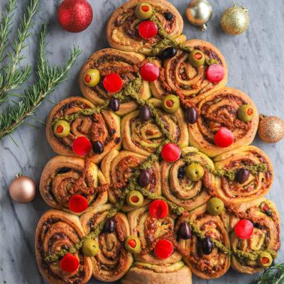 Savory Christmas Chelsea Buns