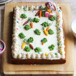 eggless carrot and chai masala cake