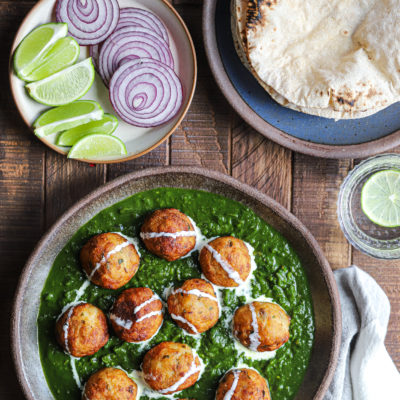 SIMPLE Paneer and Aloo Kofta in Saag Curry
