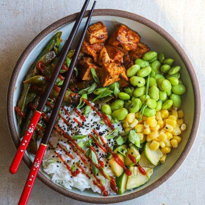 Asian Inspired Tofu-Veggie Bowl