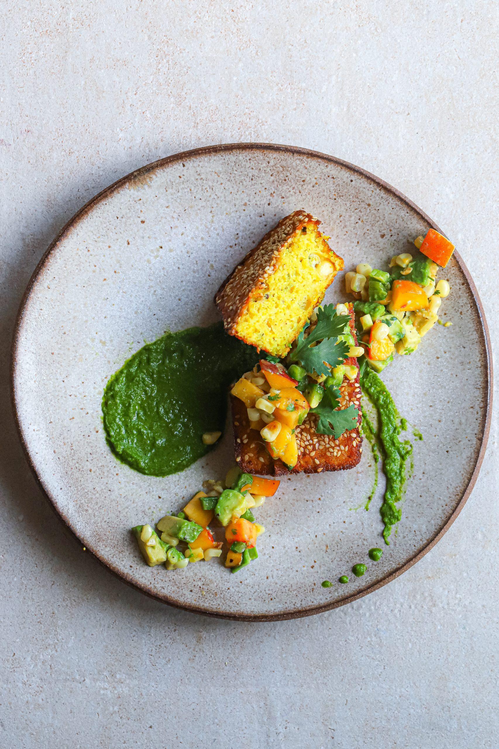 corn and zucchini handvo