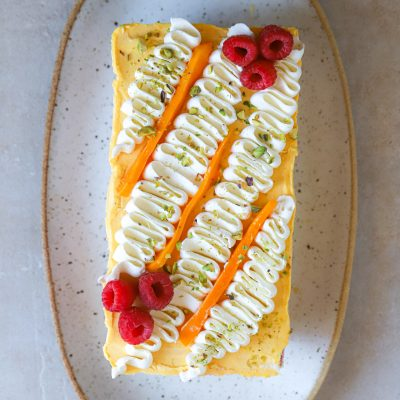 EASY MANGO BERRY ICEBOX CAKE