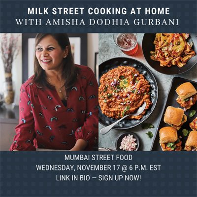 Join me! For a Fun Cooking Event with Milk Street!