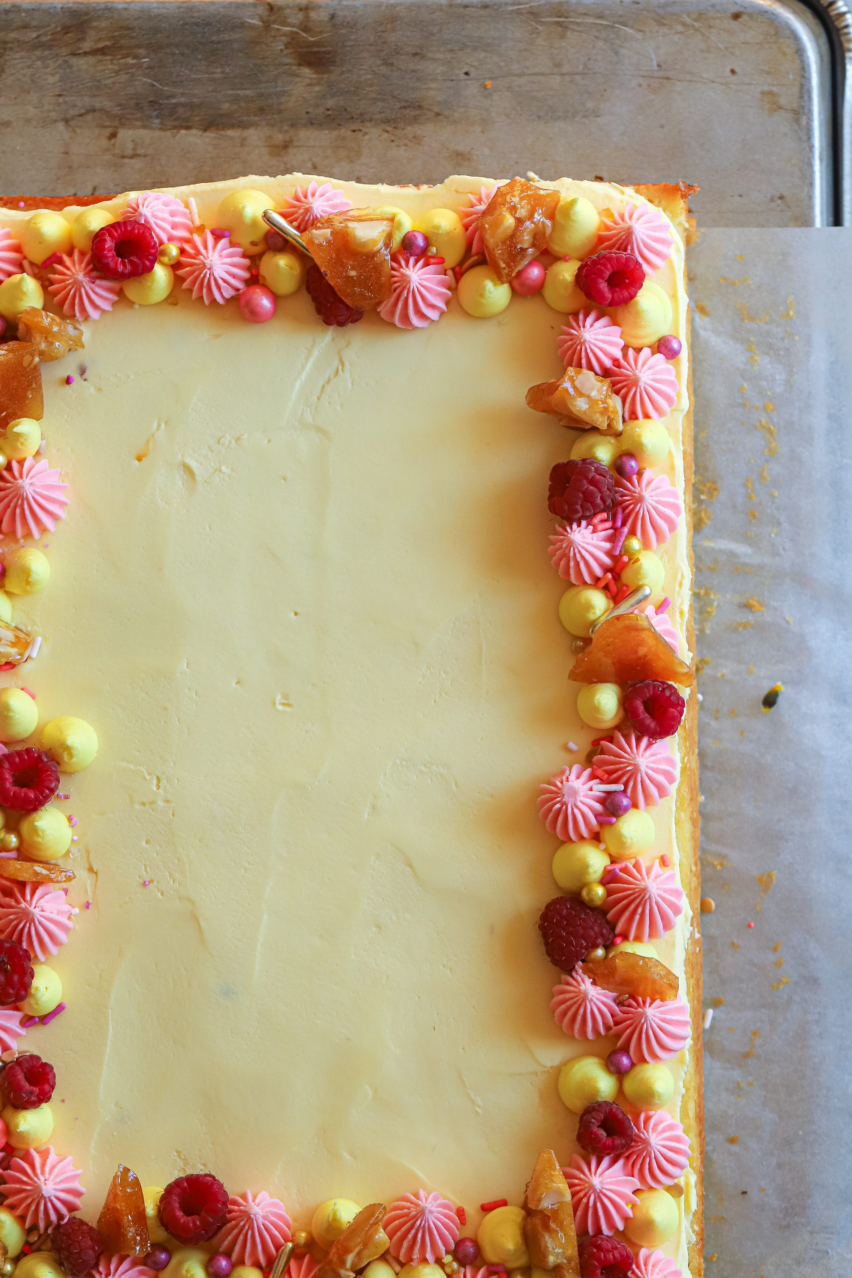 Passion Fruit Sheet Cake
